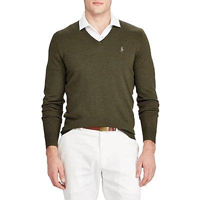 Polo Golf by Ralph Lauren V-Neckline Knit Jumper, Cypress Heather