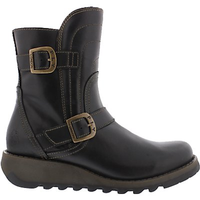 Fly London Sven Biker Two Strap Ankle Boots