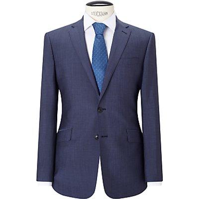Richard James Mayfair Wool Mohair Tonic Slim Suit Jacket, Blue