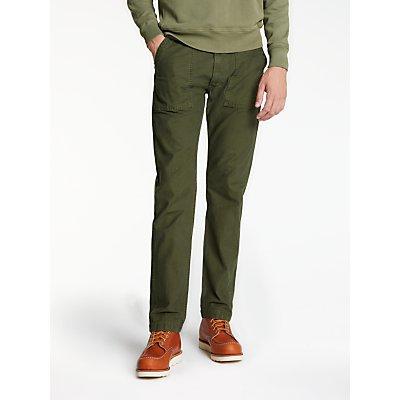 Hawksmill Denim Co Reverse Trousers, Olive