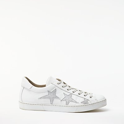 AND/OR Evita Star Lace Up Trainers, White