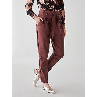 Y.A.S Tudor Loose Paper Bag Trousers, Plum
