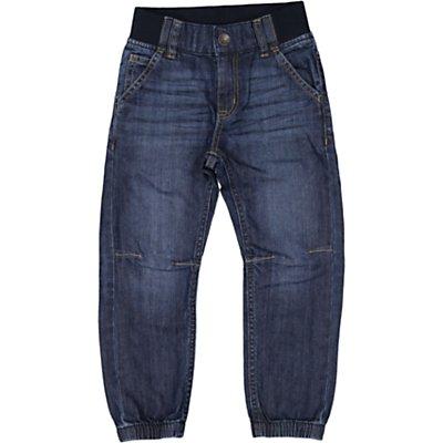 Polarn O. Pyret Children's Cuffed Denim Jeans, Blue