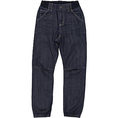 Polarn O. Pyret Children's Cuff Denim Jeans, Blue