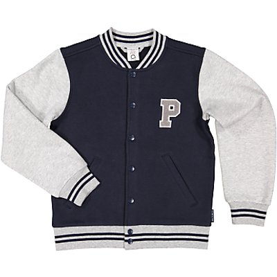 Polarn O. Pyret Children's Baseball Jacket, Blue