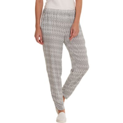 Betty Barclay Printed Trousers, Grey/Cream