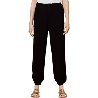 East Distressed Harem Trousers, Black