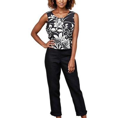 East Linen Victoire Trousers, Black