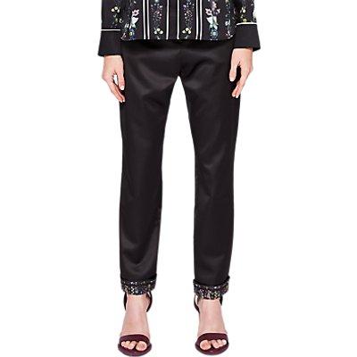 Ted Baker Ivette Skinny Fit Trousers, Black