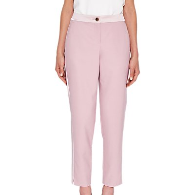 Ted Baker Fionna Contrast Trousers, Dusky Pink