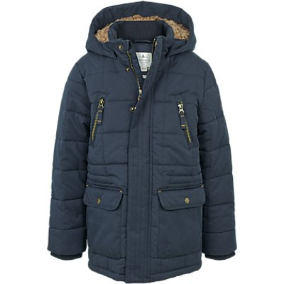 Fat Face Children's Salcombe Parka Jacket, Navy