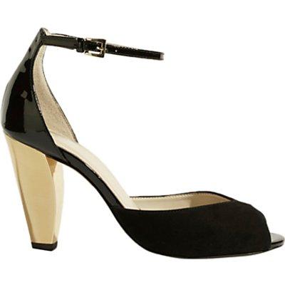 Karen Millen Cone Heeled Sandals, Black