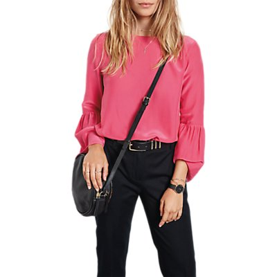 hush Andes Bell Sleeve Top, Bright Pink