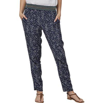East Spot Print Trousers, Indigo