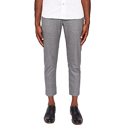 Ted Baker Checked Trousers, Mid Grey