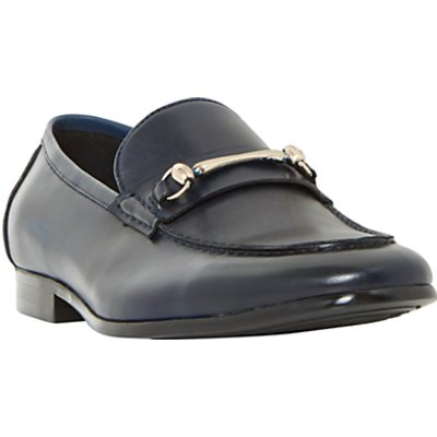 Dune Pinnochio Classic Snaffle Loafers, Navy