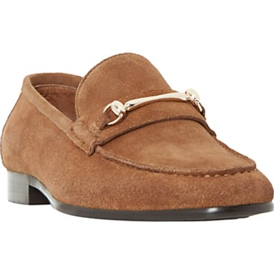Dune Pinnochio Classic Snaffle Suede Loafers, Tan