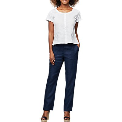 East Linen Delave Trousers, Indigo
