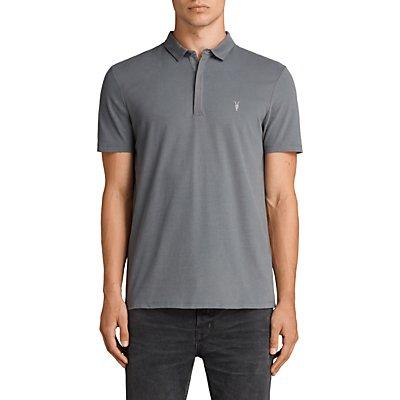 AllSaints Brace Polo Shirt, Artillery Blue