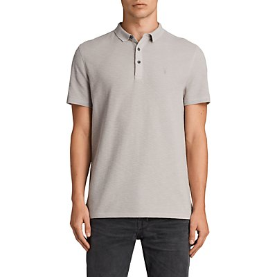 AllSaints Clash Polo Shirt, Pebble Grey