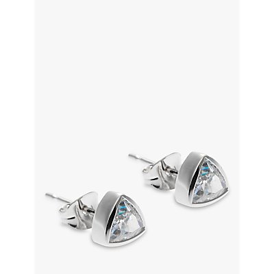 Nina B 9ct White Gold Cubic Zirconia Triangle Stud Earrings