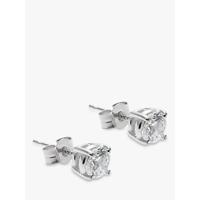 Nina Breddral 9ct White Gold Cubic Zirconia Stud Earrings