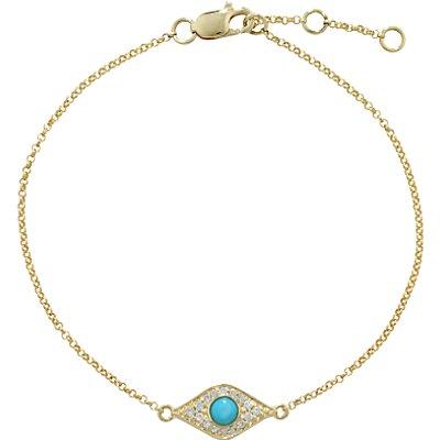 London Road Enchanted Evil Eye Diamond and Turquoise Bracelet, Gold