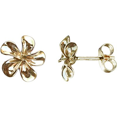 Nina B 9ct Yellow Gold Flower Stud Earrings, Gold