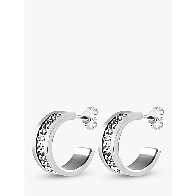 Dyrberg/Kern Kimmie Swarovski Crystal Hoop Earrings