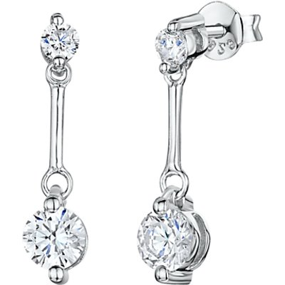 Jools by Jenny Brown Cubic Zirconia and Sterling Silver Drop Earrings