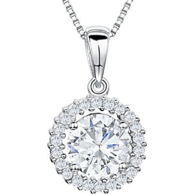 Jools by Jenny Brown Cubic Zirconia Pendant Necklace, Silver