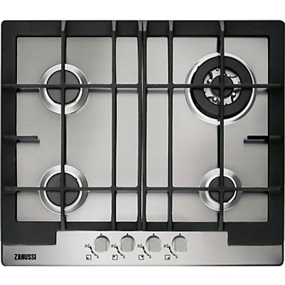 Zanussi ZGG66424BA gas hobs  in Stainless Steel - 7332543183258