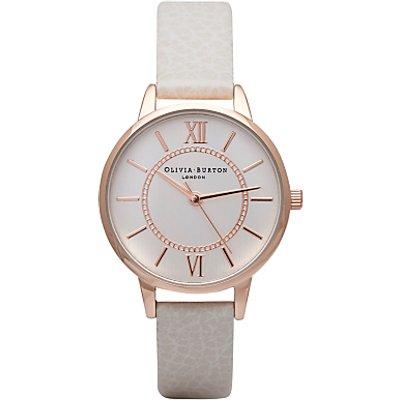 Olivia Burton Women's Wonderland Leather Strap Watch