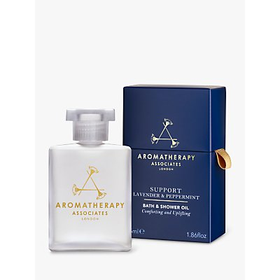 Aromatherapy Associates Support Lavender and Peppermint Bath and Shower Oil, 55ml