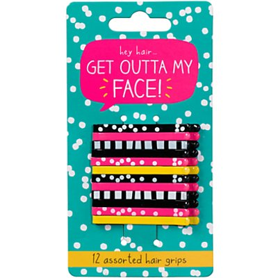 Happy Jackson Get Outta My Face Hair Grips, Pack of 12