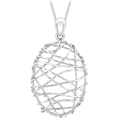 IBB 9ct White Gold Candy Cage Pendant