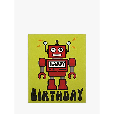Candy Floss Robot Birthday Card - 5030453888677