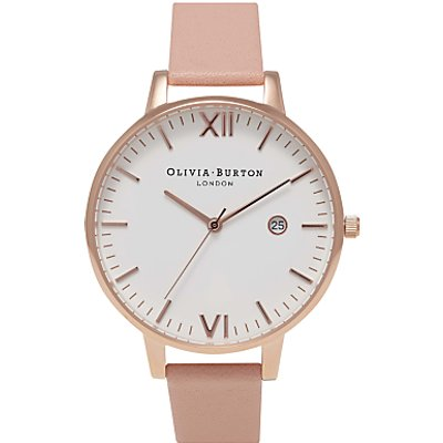 Olivia Burton Women's Timeless Date Leather Strap Watch