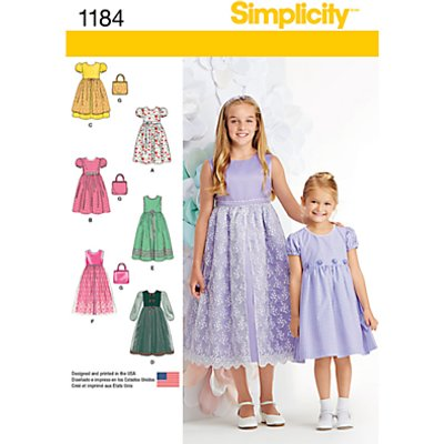 039363511847 | Simplicity Children s Dress Sewing Pattern  1184 Store