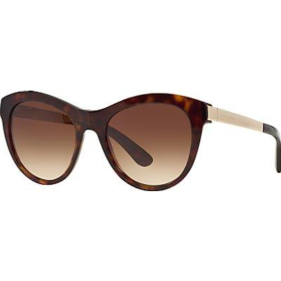 Dolce & Gabbana DG4243 Round Framed Sunglasses, Havana