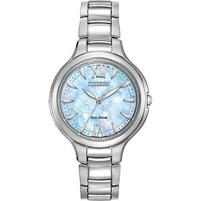 Citizen EP5990 50D Women s Silhouette Stainless Steel Bracelet Strap Watch  Silver Blue - 4974374237880