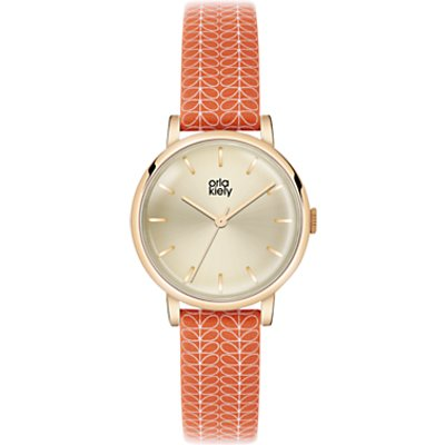 Orla Kiely Women's Stem Print Strap Leather Strap Watch