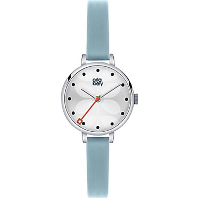 Orla Kiely Women's Mini Slim Strap Leather Strap Watch
