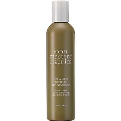 John Masters Zinc & Sage Shampoo with Conditioner, 236ml