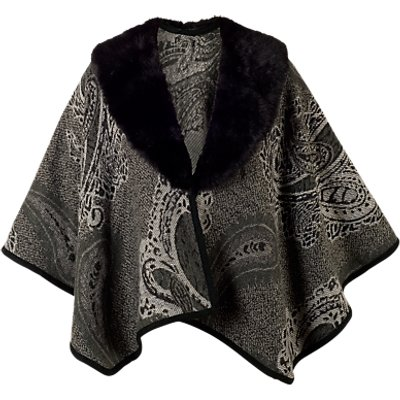 Chesca Pasiley Jacquard Wrap, Charcoal