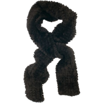 Chesca Faux Fur Knitted Scarf