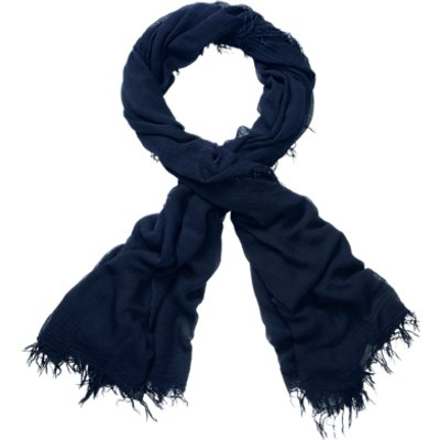 Pure Collection Banister Ultra Soft Scarf, Navy