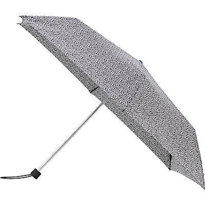 John Lewis Superslim Mini Spot Umbrella, Black/White