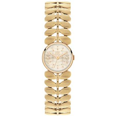 Orla Kiely OK4022 Women's Laurel Bracelet Strap Watch, Gold