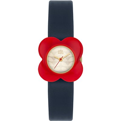 Orla Kiely Women's Poppy Leather Strap Watch